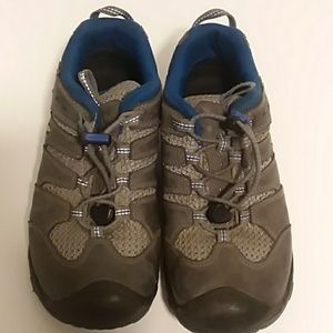 Keen waterproof hiking boots, boys, gray and blue